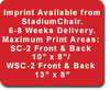 The GameChanger® StadiumChairs Imprinted(one location)