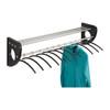 """Mode 48"""" Wood Wall Coat Rack With Hangers"""