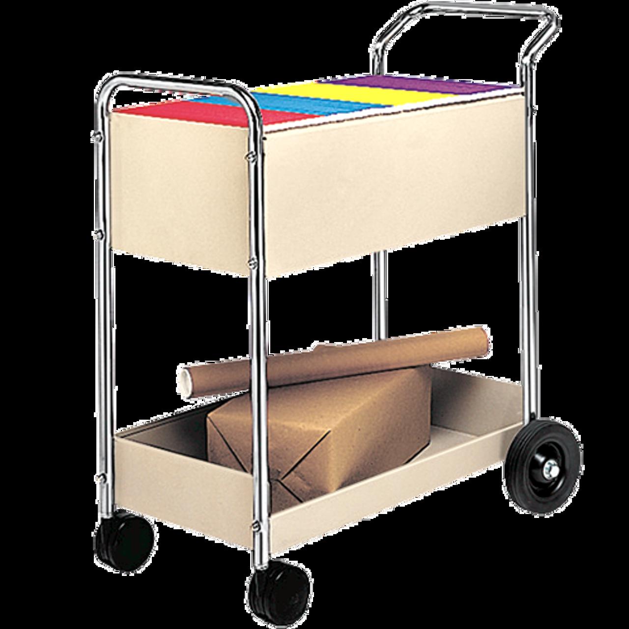 Steel Mail Cart - Dove Grey