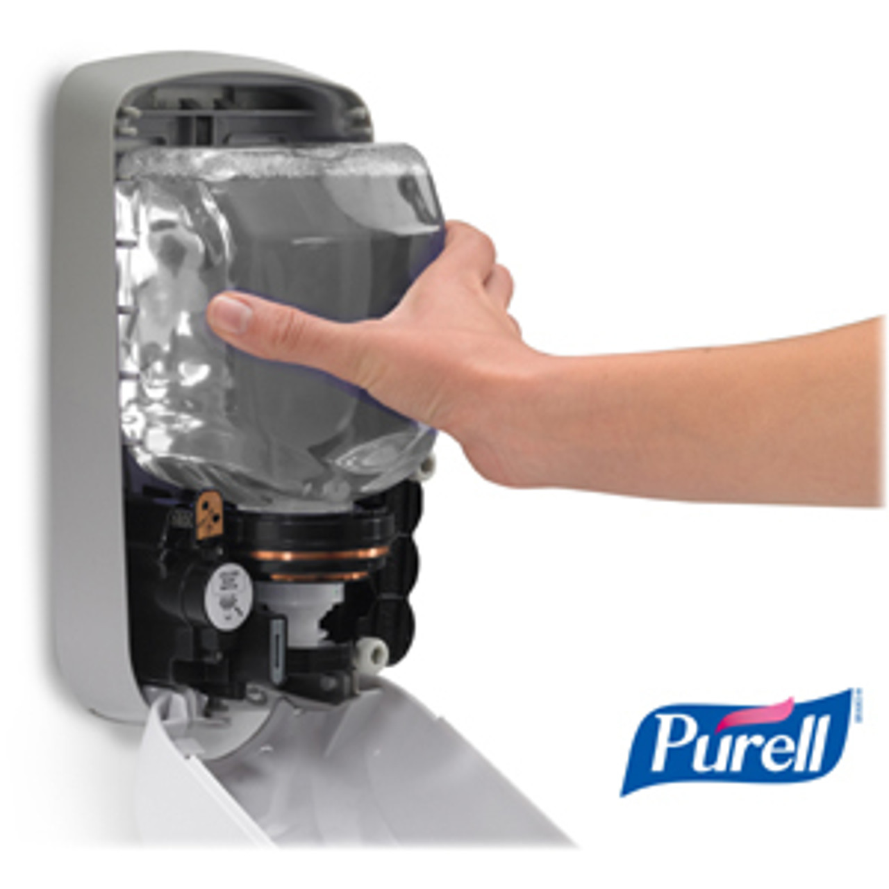 PURELL® TFX Touch-free Sanitizer Dispenser - Automatic - 1.27 quart Capacity - Support 3 x C Battery - Gray - 1Each