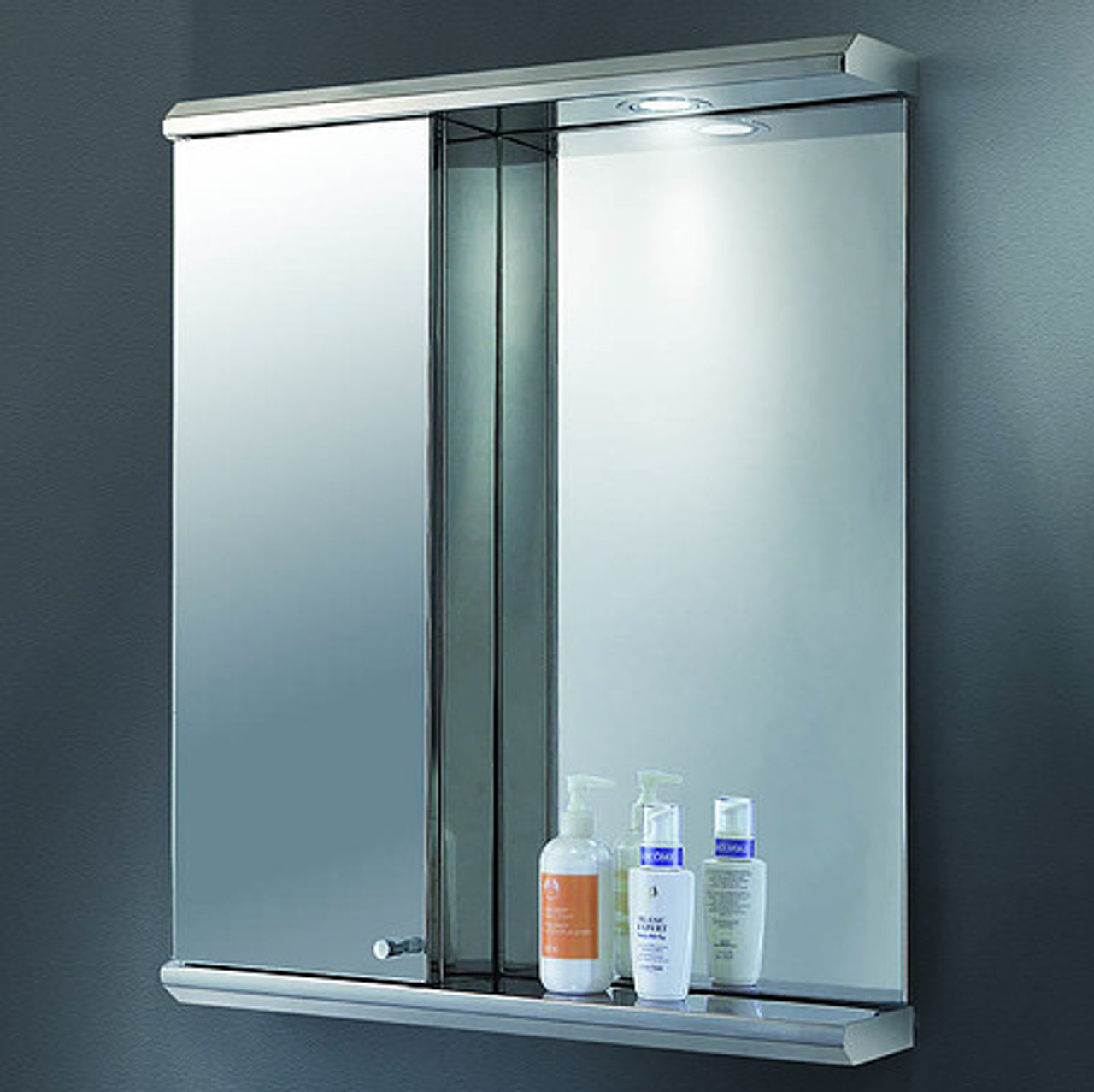 Ketcham Lighted Mirror Medicine Cabinets Stainless Steel Series Combo Cabinets