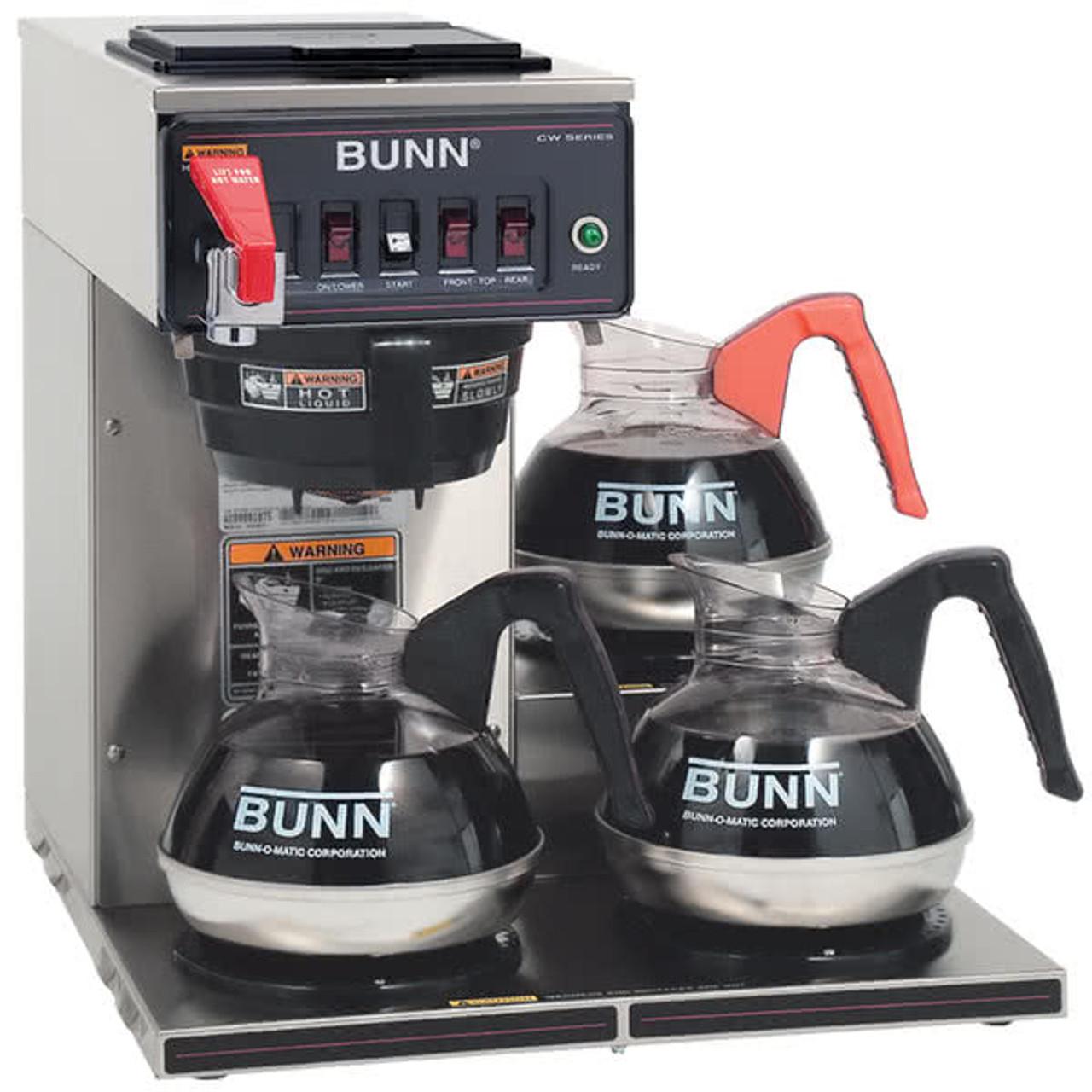 BUNN 12-cup Digital 3-Warmer Commercial Brewer