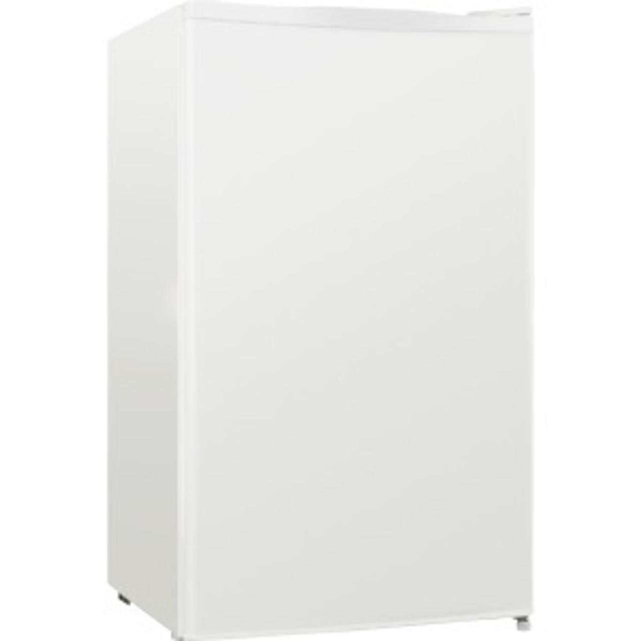 Lorell LLR72312 Compact Refrigerator, Can Dispenser, Dial Control, Manual Defrost, 3.3 cubic feet
