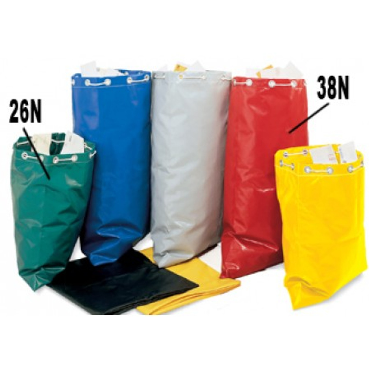 """Charnstrom Mail Room Supplies - Colored Reinforced Vinyl Mailbag 38""""H X 26""""W"""