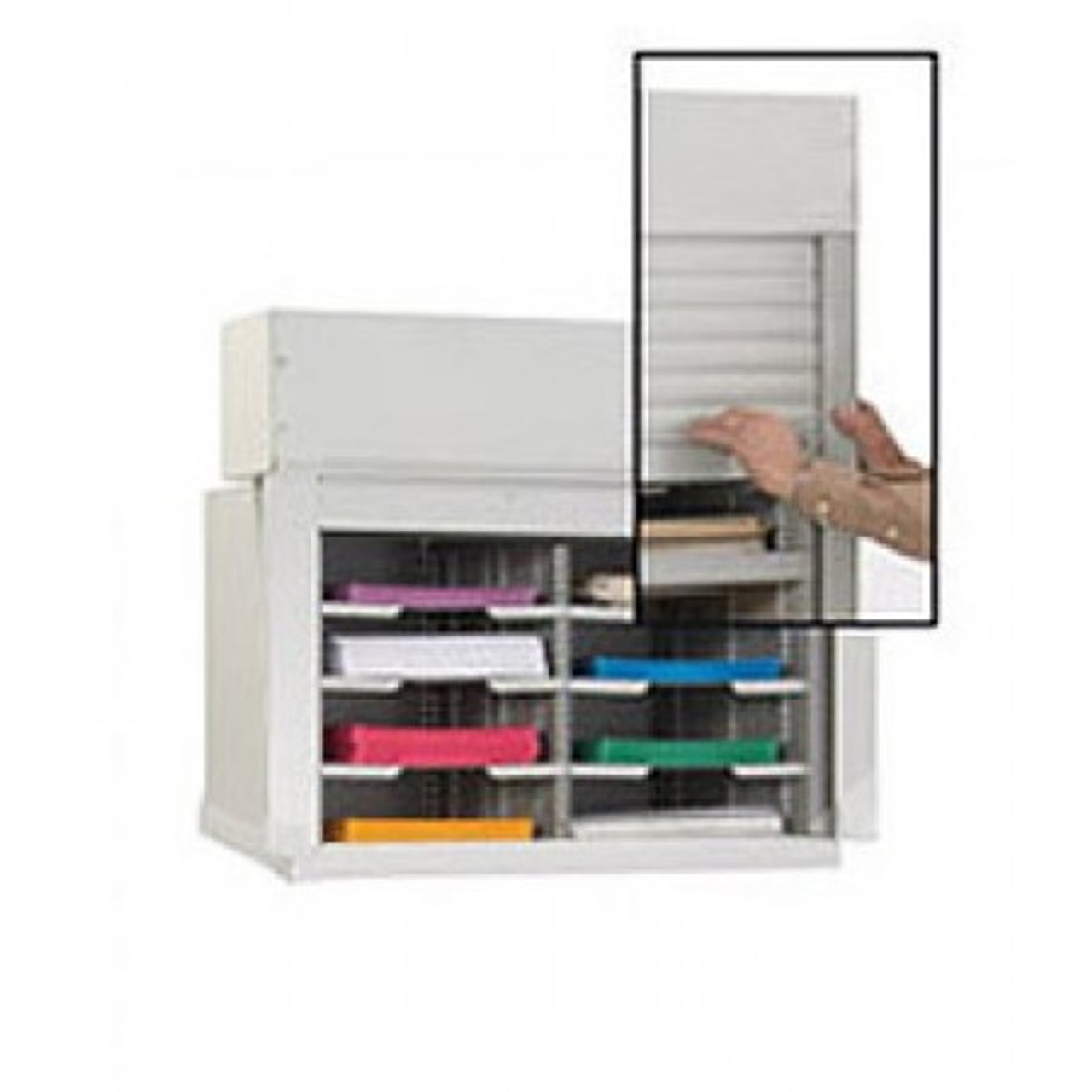 """Charnstrom 28""""W Security Mail Cabinet-8 Pockets-12-3/4"""" Depths"""