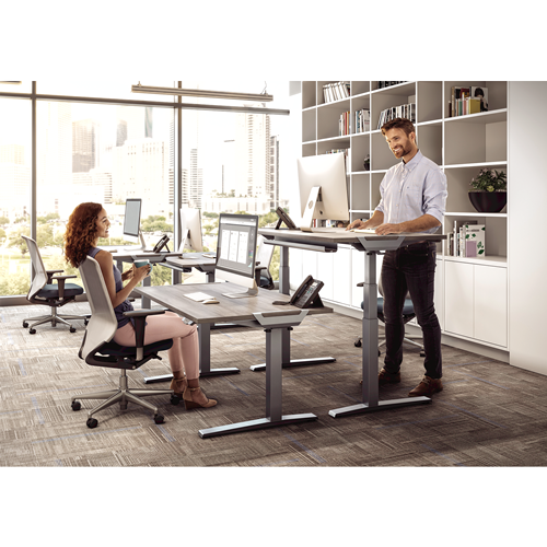 Levado Height Adjustable Desk Base - Silver