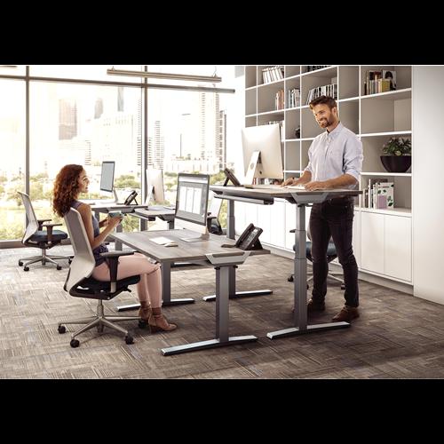 Levado Height Adjustable Desk Base - Silver