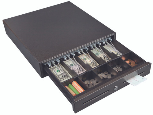 Hercules CD1317 Cash Drawer Keylock Tray 5 Bill and Coin Compartments Carry Handle