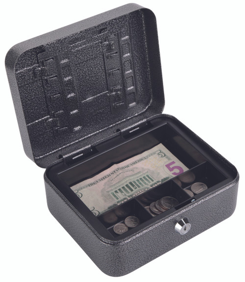 "FireKing CB0806 Locking Convertible Cash Key Box - Key Lock - for Money, Coin - Internal Size 3.25"""