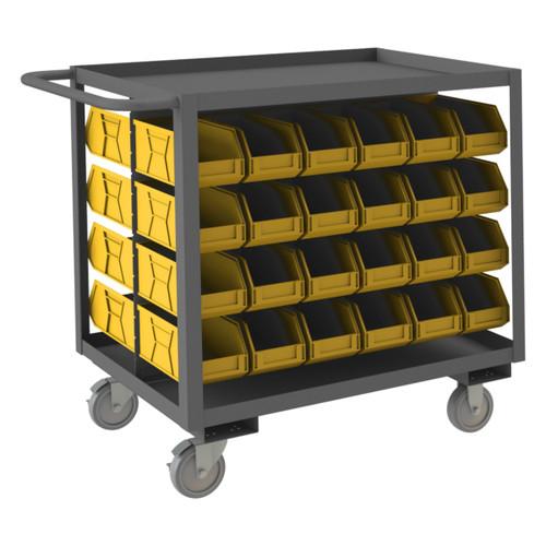 Durham Bin Service Cart, 48 Plastic Bins RSC-2436-BLP-48-230-95