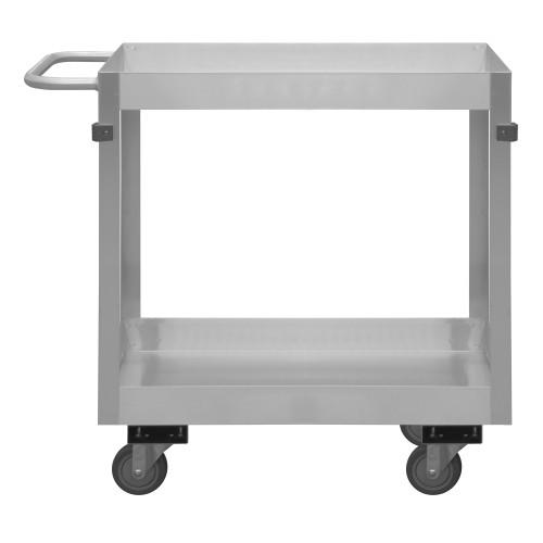 Durham Stainless Steel Stock Cart, 2 Shelf SRSC32016302ALU4PU