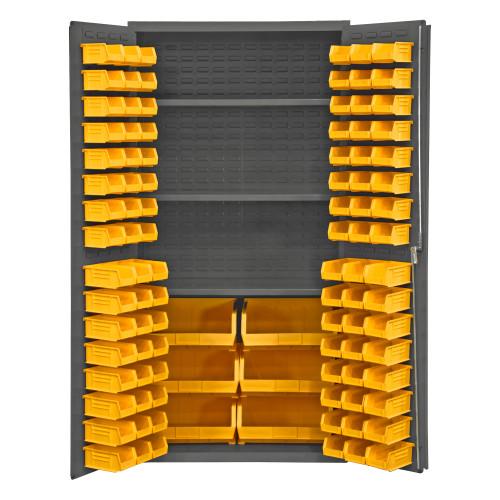 Durham Bin & shelf cabinet 3501-BDLP-102-3S-95