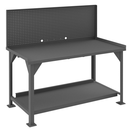 Durham Workbench with pegboard panel  DWB-3060-BE-PB-95