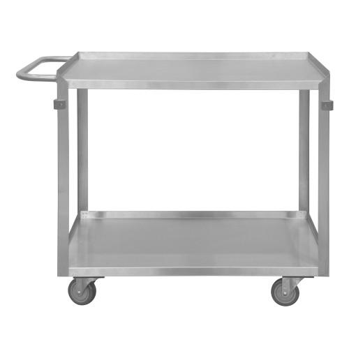 Durham Stainless Steel Stock Cart, 2 shelves, 16-3/4 x 36-7/16 x 34