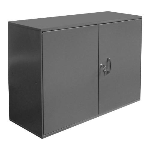 Original Durham Abrasive Storage Cabinet, 1 Shelf, 6 Dividers, Pegboard, 5 Peg hooks, 33-3/4 x 11-7/8 x 23-7/8