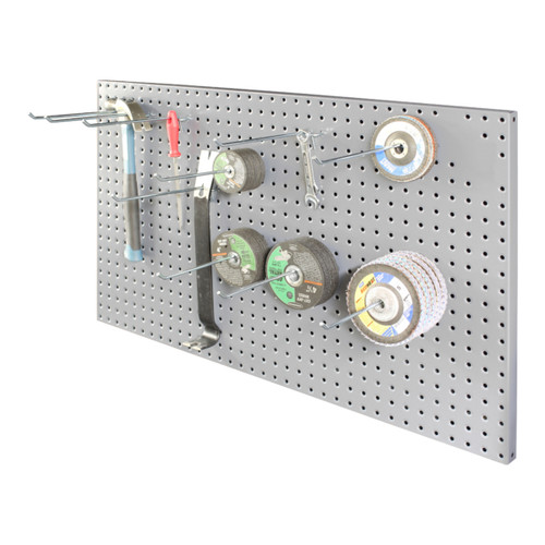 Original Durham Pegboard Panel, (10) 8″ Hooks included, Wall Mountable, Gray