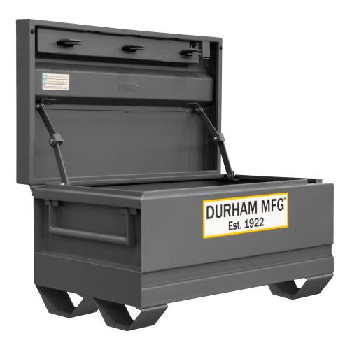 Original Durham Jobsite Storage Box, 16 cu. ft., 14 Gauge Steel, 48 x 24 x 27-13/16, Gray
