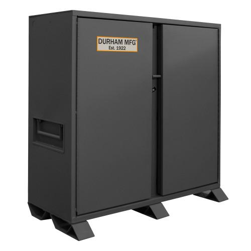 Original Durham Jobsite Storage Cabinet, 47.5 cu. ft., 14 Gauge Steel, 60 x 27-1/4 x 60-3/4, Gray
