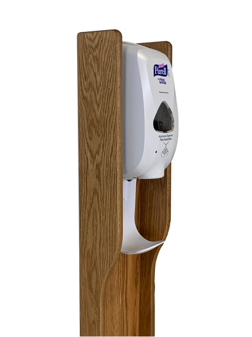 Hand Sanitizer Dispenser Stand, Elegant Design-Medium Oak