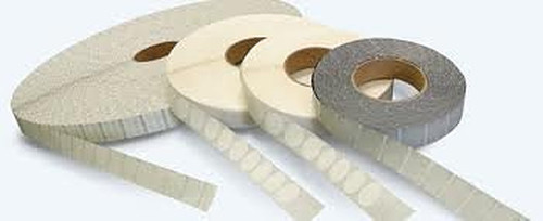 """Staplex® Tabster White 1.5"""" PerfTabs with horizontal perf. 2,500 per roll (12,500) Total"""
