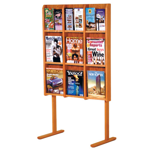 Divulge 9 Magazine/18 Brochure Floor Display w/Brochure Inserts