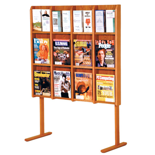 Divulge 12 Magazine/24 Brochure Floor Display w/Brochure Inserts