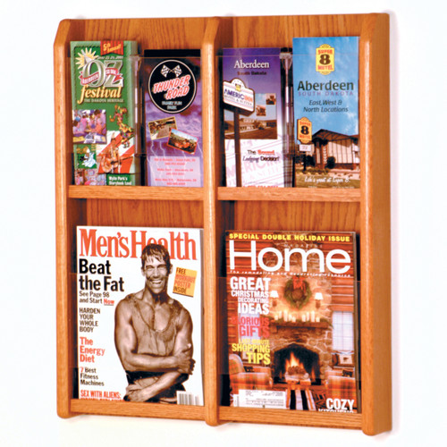 Divulge 4 Magazine/8 Brochure Wall Display w/Brochure Inserts