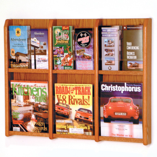 Divulge 6 Magazine/12 Brochure Wall Display w/Brochure Inserts