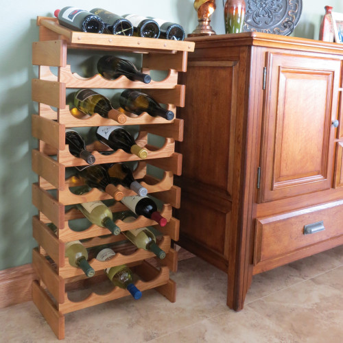 16 Bottle Dakota Wine Rack with Display Top