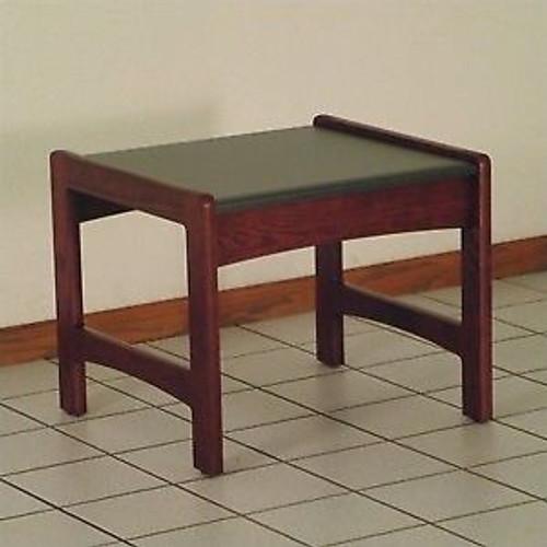 Wooden Mallet Dakota Wave End Table,  Black Granite-look Top, Mahogany