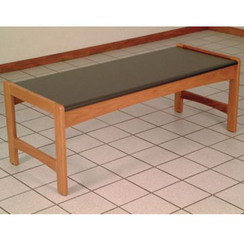 Wooden Mallet Dakota Wave Coffee Table,  Black Granite-look Top, Medium Oak