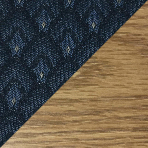 Wooden Mallet Dakota Wave Four Seat Bench, Arch Blue, Light Oak