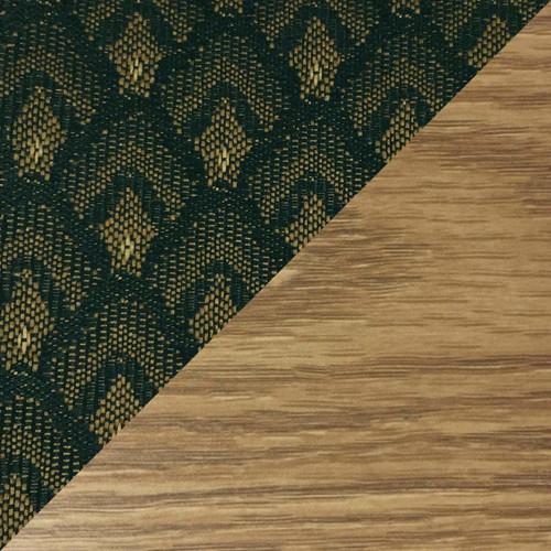 Wooden Mallet Dakota Wave Four Seat Bench, Arch Green, Light Oak