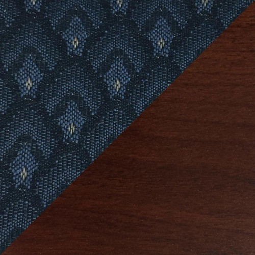 Wooden Mallet Dakota Wave Four Seat Bench, Arch Blue, Mahogany