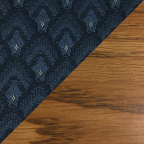 Wooden Mallet Dakota Wave Four Seat Bench, Arch Blue, Medium Oak