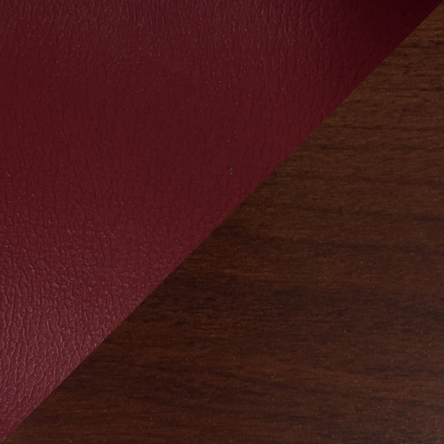 Wooden Mallet Dakota WaveFour Seat Bench, Cabernet Burgundy, Medium Oak