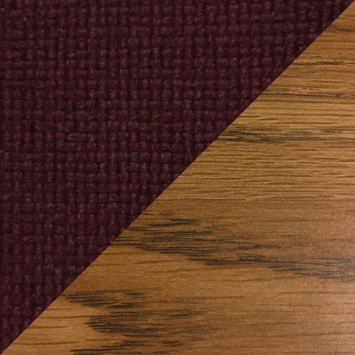 Wooden Mallet Dakota Wave Four Seat Bench, Charcoal Grey, Medium Oak