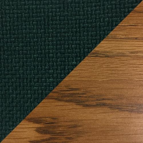 Wooden Mallet Dakota Wave  Four Seat Bench, Powder Blue, Medium Oak
