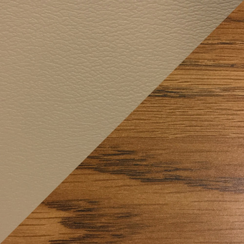 Wooden Mallet Dakota Wave Four Seat Bench, Green Vinyl, Medium Oak
