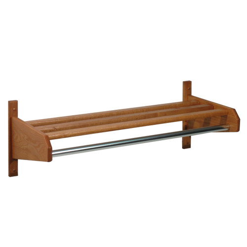 "34"" Oak Coat & Hat Rack"