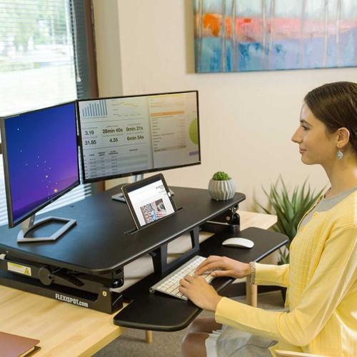 """FlexiSpot M2B 35"""" Classic Riser Standing Desk Converter"""