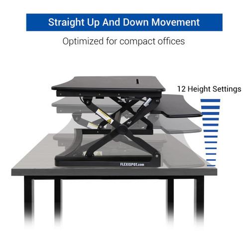 """FlexiSpot M3B 47"""" Classic Riser Standing Desk Converter"""