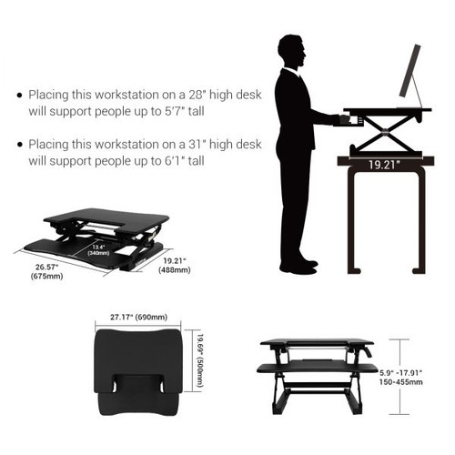 "FlexiSpot M8B 27"" Height Adjustable Desk Converter"