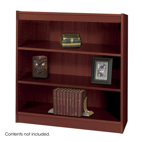 Square-Edge Veneer Bookcase - 3 Shelf