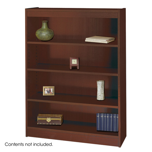 Square-Edge Veneer Bookcase - 4 Shelf