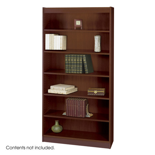 Square-Edge Veneer Bookcase - 6 Shelf