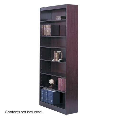Square-Edge Veneer Bookcase - 7 Shelf