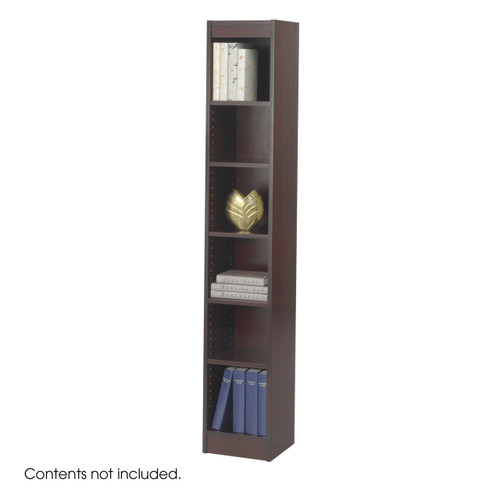 "6-Shelf Veneer Baby Bookcase, 12""W"