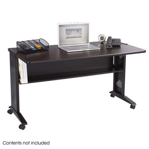 "54""W Reversible Top Mobile Desk"