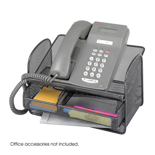 Onyx Mesh Telephone Stand With Drawer (Qty. 5)